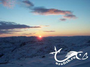 скупое северное солнце зимой http://urafish.ru
